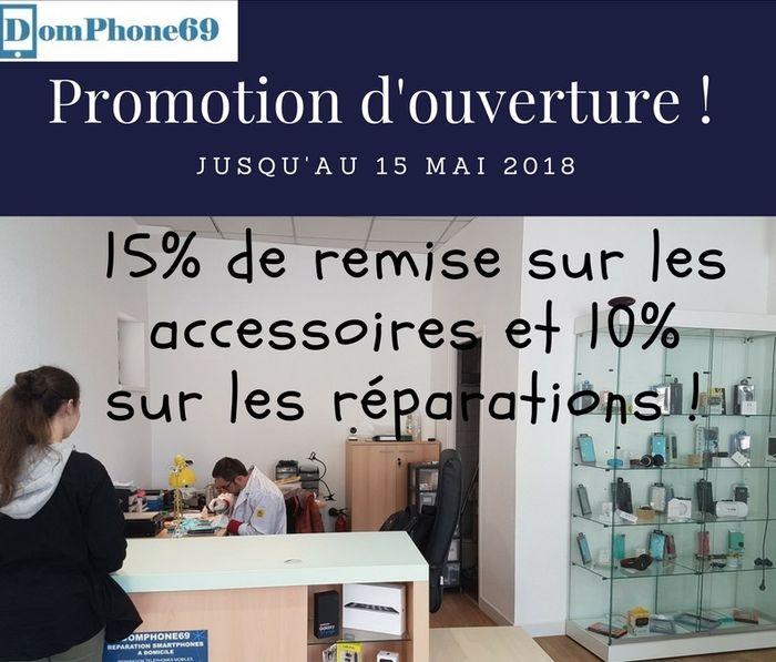 promotions sur les réparations de smartphones et vente d'accessoires chez domphone69
