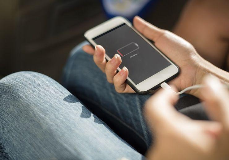 batterie d'iphone en charge