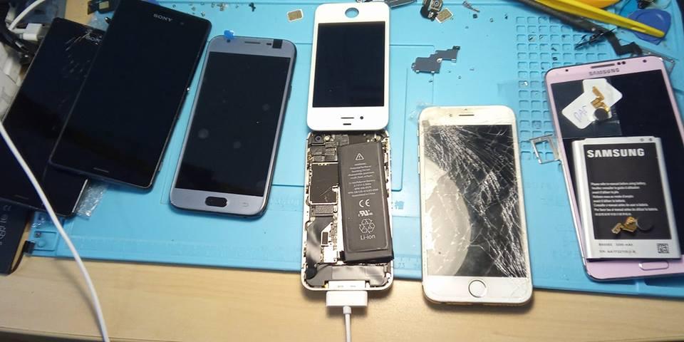 changer un ecran d'iphone ou samsung cassé
